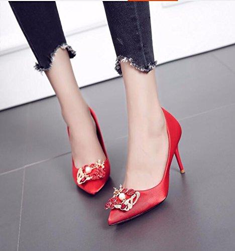 KPHY Diamond Hochzeit Schuhe 9Cm High Heels Dünnen Absätzen Haben Haben Haben - Nahen Heels Einzelne Schuhe Meine Schuhe. 511ecf