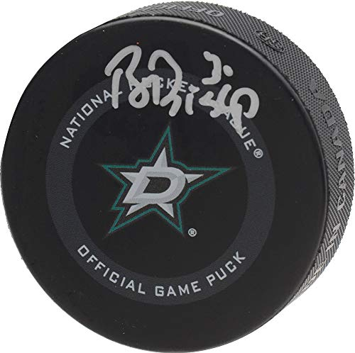 Ben Bishop Dallas Stars Autographed 2019 Model Official Game Puck - Fanatics Authentic Certified - Autographed NHL Pucks from Sports Memorabilia