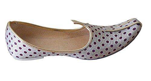 Kalra Creations - Zapatillas de estar por casa de Seda para hombre crema