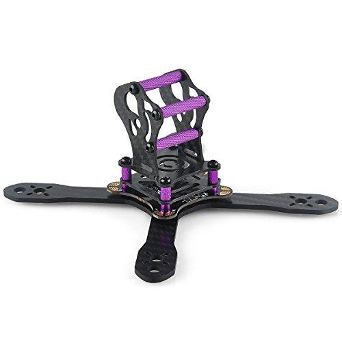 130 mm Kit en caoutchouc Quadcopter en fibre de carbone de avec carte PDB pour Mini Racing Quadcopter Micro FPV Drone