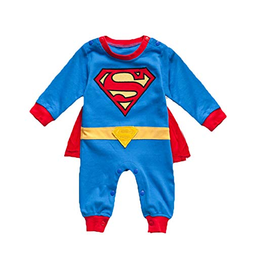 VogueFashion Baby Superhero Jumpsuit (0-3 Months, Superbaby1)