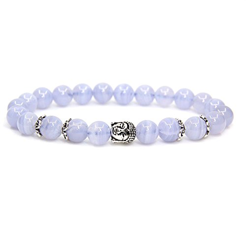 Used, Natural A Grade Blue Lace Agate with 925 Sterling Silver for sale  Delivered anywhere in USA