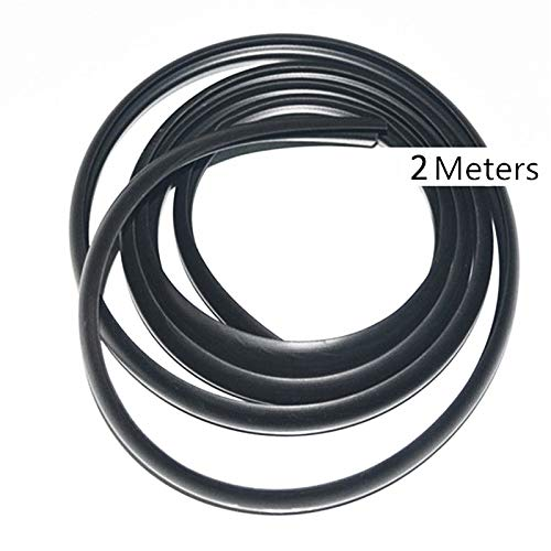 Ponis-Limos - 2m Car Ageing Rubber Seal Strips Under Front Windshield Panel Sealed Trim Moulding Strip Auto Accessories ()