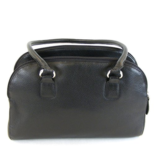 Pavini Damen Tasche Shopper Verona Leder schwarz 13263 Reißverschluss Handyfach