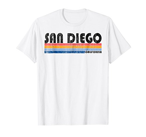 Vintage 1980s Style San Diego CA T Shirt