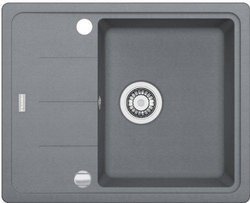 franke basis bfg 611 62 steingrau granit sp lbecken k chensp le einbausp le grau. Black Bedroom Furniture Sets. Home Design Ideas