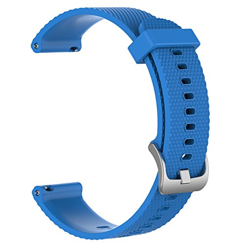 (ZSZCXD Band for Garmin Vivoactive 3/Vivomove HR, Silicone Replacement WatchBand Strap Band Wristband for Garmin Vivoactive 3 and Garmin Vivomove HR (Sky Blue, Small))