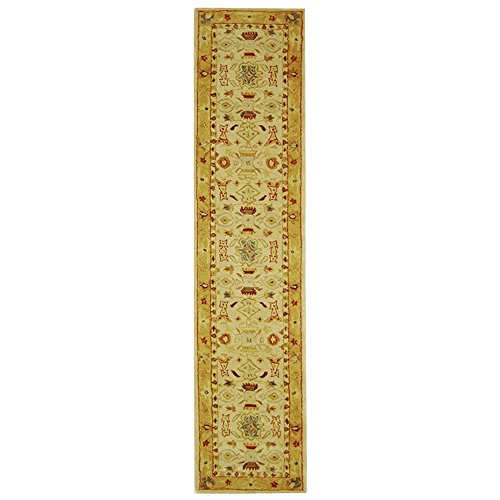 Safavieh Anatolia Collection AN543C Handmade Traditional Oriental Ivory and Gold Wool Runner (2'3