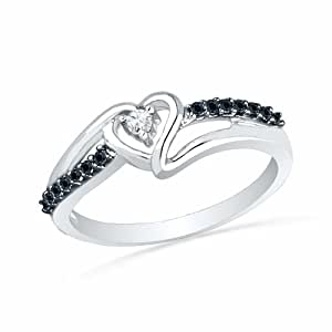 wedding rings amazon sterling silver black and white 1011
