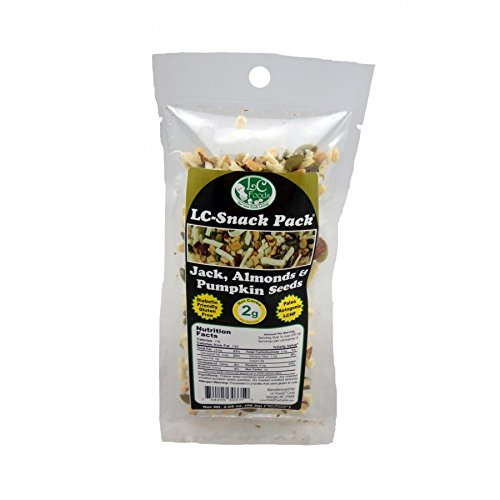 Jack, Almond & Pumpkin Seed Snack Pack (6 Pack) - LC Foods - Low Carb - All Natural - Paleo - Gluten Free - No Sugar - Diabetic Friendly - 2.05 oz Each