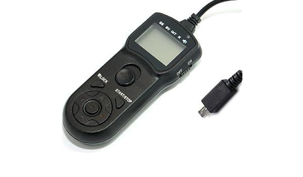 Kaavie -TM-K Disparador a distancia con cable y temporizador LCD ...