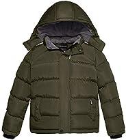Wantdo Boy's Thicken Puffer Jacket Padded Winter Hooded