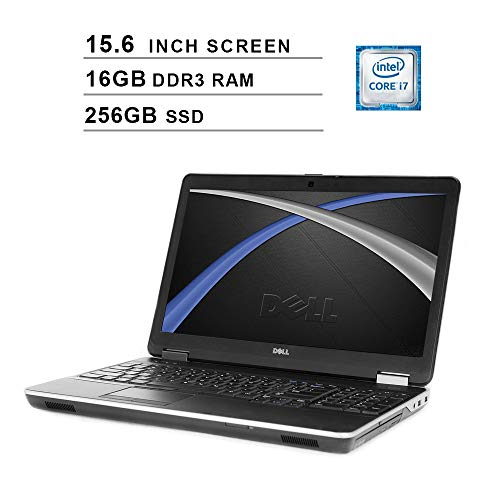 2019 Premium Dell Latitude E6540 15.6 Inch Business Laptop (Intel Quad Core i7-4800MQ up to 3.7GHz, 16GB DDR3 RAM, 256GB SSD, Intel HD 4600, DVD, WiFi, HDMI, Windows 10 Pro) (Renewed)