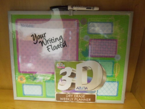 """The Board Dudes 3d Dry Erase Weekly Planner Board with Silver Frame, 11"""" X 14"""""""