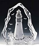 Engraved Lead Crystal -- Lighthouse (Boat)