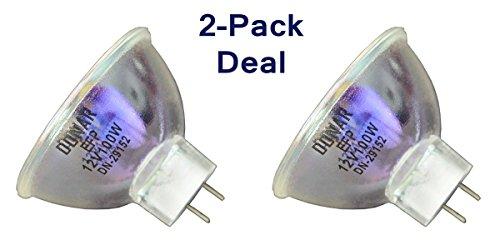 2pcs EFP 12V 100W RM-105 Bulb for American DJ Barrel Ray Centurion Chameleon Color Expander Eliminator C System Fire Fox Flash 4 Splash Hydro, Icon Kristal Pulsator Roto-Gobo Saga 2 - Ray Kristal