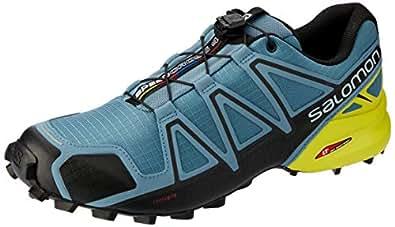 Salomon Speedcross 4, Zapatillas de Running para Hombre, Azul (Bluestone/Black/Sulphur Spring), 40 EU