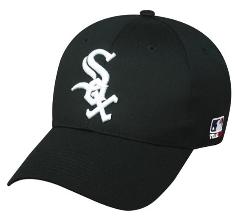 (Chicago White Sox ADULT Adjustable Hat MLB Officially Licensed Major League Baseball Replica Ball Cap)
