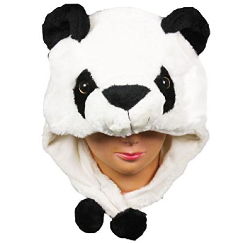 Panda_New_Warm Cap Earmuff Gift Cartoon Animal Hat Fluffy Plush Cap - Unisex (US Seller)