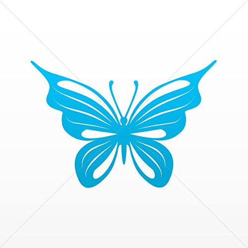 Decals Decal Butterfly Tribal Decorative Motorbike Bicycle V Blue (5 X 3.43 -