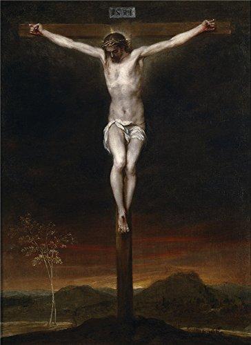 Oil painting ` Cano Alonso La Crucifixion Segundo Tercio Del 17世紀`印刷ポリエステルキャンバスに、10x 14インチ/ 25x 35cm、The Best Powder Roomギャラリーアートとホームアートワークとギフトはこの複製品アート装飾プリントキャンバスの商品画像