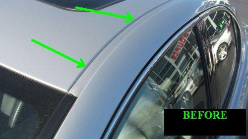 312 Motoring fits 2001-2006 BMW E46 M3 CARBON FIBER ROOF TRIM MOLDINGS 2PC 2002 2003 2004 2005 01 02 03 04 05 06