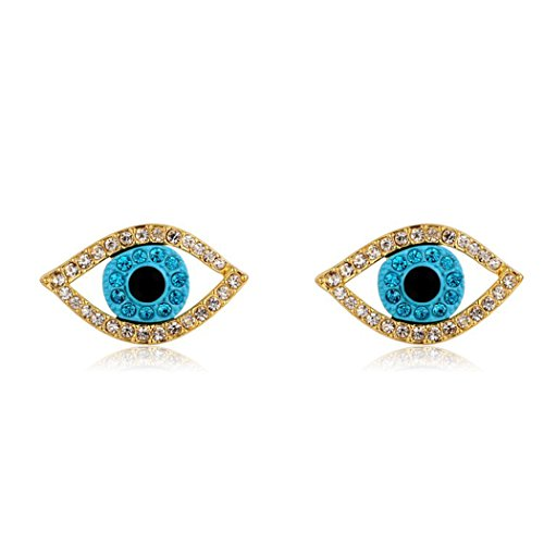 [Time Pawnshop Creative Evil Eye Earrings Zircon Personality Stylish Women Earrings] (Sweet And Sour Costume Ideas)