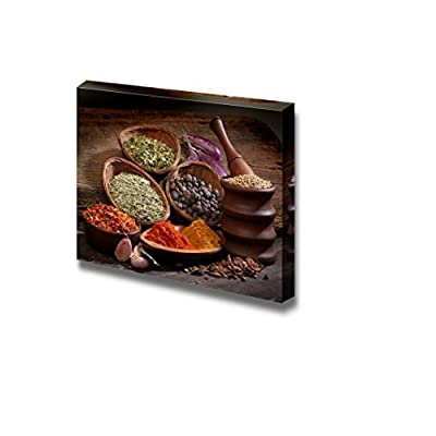 Canvas Prints Wall Art - Still Life Different Spices in Modern Wall Decor/Home Decoration Stretched Gallery Canvas Wrap Giclee Print & Ready to Hang - 32