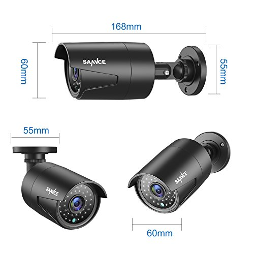 SANNCE 4 Metal Security Camera Kits 1/2.7'' 1080P(2MP) AHD Video Security Surveillance CCTV Camera with 100ft Night Vision, 3.6mm Lens Outdoor/Indoor IP66 Weatherproof(Pack of 4) by SANNCE (Image #7)