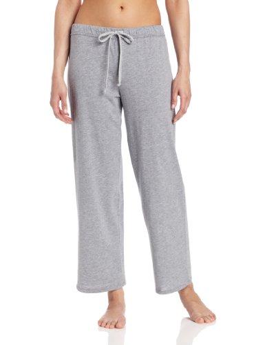 Striped Pajama Pants Flannel (Nautica Sleepwear Women's Knit Jersey Pant, Ash Heather, Small)