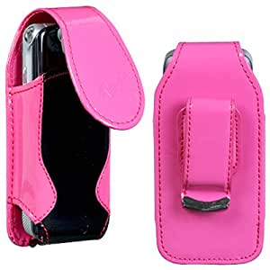 Universal Vertical Phone Pouch, Hot Pink/Black
