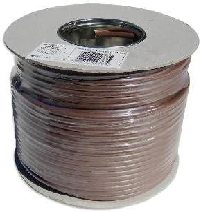 Webro. Cable coaxial 100 m RG6 para TV por Antena o parabólica, Color marrón