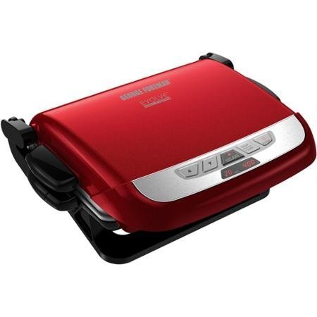 Modern George Foreman Evolve Grill with Removable Plates, Red by George Foreman