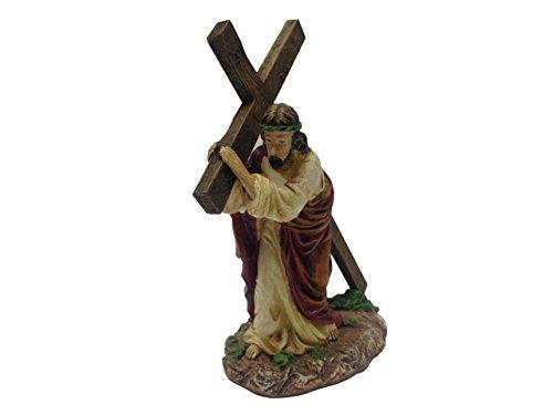 FixtureDisplays Set of 2 Pcs Jesus Carrying Cross Path to Calgary Christine Gifts 13303 - Aus Calgary To