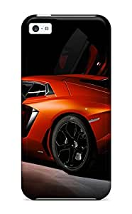 Iphone 5c Case Cover - Slim Fit Tpu Protector Shock Absorbent Case (lamborghini Aventador Doors Up)