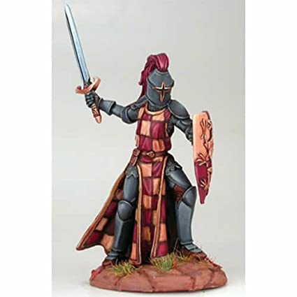Amazon com: Male Knight with Sword and Shield Miniature