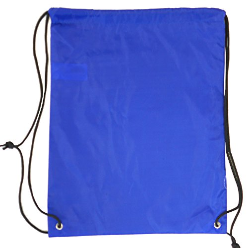 - 5 Pack 210D POLYESTER Drawstring Backpack, Gym Sports, Outdoor Backpack, Camping and Hiking Royal Blue Bags (5 Pack, Royal Blue)