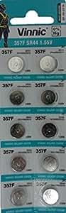watch battery 1.5V silver oxide 357 SR44 SR44SW 10 pack