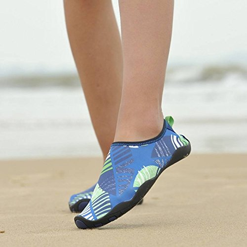 on Shoes Water Blue Barefoot Women's Shoes Slip Quick Dry YUNGOD Water Aqua 86qxU