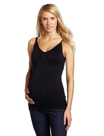 Ripe Maternity Women's Maternity and Nursing Seamless Tank Top, Black, Small