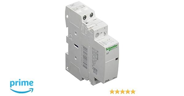 Schneider Electric A9C20732 Contactor Modular Ict 25A 2No 230-.240V 50Hz: Amazon.es: Industria, empresas y ciencia