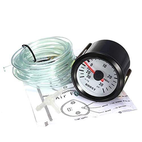 Man/ómetro de presi/ón de vac/ío de presi/ón de 30 PSI Medidor de Puntero Turbo Boost de 2// 52mm Car Dial Auto Meter Fifet Medidor Turbo Boost para autom/óvil