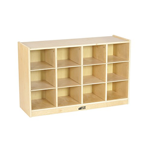 ECR4Kids Birch 12 Cubbie Tray Cabinet