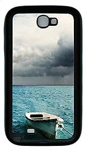 Samsung Note II Case Sea And Clouds TPU Custom Samsung Note 2 Case Cover Black