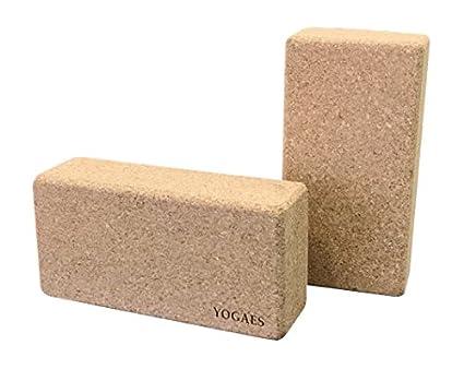 Bricks de corcho para yoga (caja de 20 unidades). 2 tamaños ...