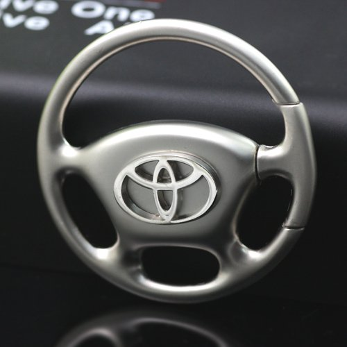 Kezi Alloy Acrylic 4S Car Logo Gift Customise Steering Wheel Keychain For Toyota (Alloy Acrylic)