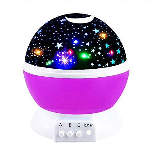 Toys for 2 3 4 5 6 Year Old Boys, Our day Night Light Moon Star Best Gifts for Kids Toys for 7-12 Year Old Boys 3-12 Year Old Boy Girl Gifts Toys for 3-12 Year Old Girls 2018 Christmas Purple ODUSXK06
