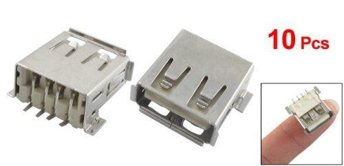 Amazon.com: eDealMax 10 x USB tipo A enchufe hembra de soldadura adaptador de conector: Electronics