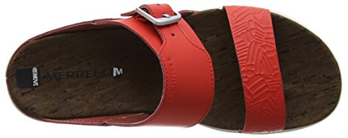 Buckle Slide Town Red fiery Ouvert Print Bout Around Incandescent Sandales 42 Merrell Femme Eu Rouge qwRCZc