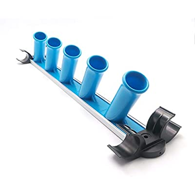 MENG ZHI AO Caddy Pool Equipment Organizer Pool Cleaning Accessory Holder Rack Perfect for Poles Brushes Nets Vacuums and Other Cleaning Attachments: Garden & Outdoor